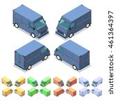 car icon set. isometric 3d... | Shutterstock .eps vector #461364397