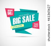 big sale  this weekend special... | Shutterstock .eps vector #461365627