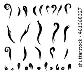vector set of brush strokes ... | Shutterstock .eps vector #461368327