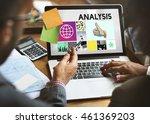analysis analyze data...   Shutterstock . vector #461369203