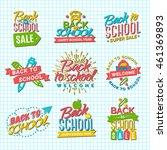 set of welcome back to school... | Shutterstock .eps vector #461369893