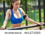 sporty young woman... | Shutterstock . vector #461371003