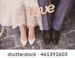 love and happiness on wedding... | Shutterstock . vector #461392603