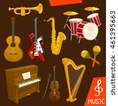 wind and string musical...   Shutterstock .eps vector #461395663