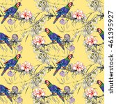 beautiful seamless pattern with ... | Shutterstock . vector #461395927