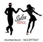 silhouette of couple dancing... | Shutterstock .eps vector #461397067