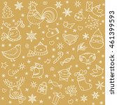 christmas doodle pattern. new... | Shutterstock .eps vector #461399593