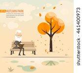 Autumn Park  An Old Man On A...