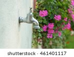Dripping Tap With Water Drop O...