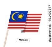 malaysia ribbon waving flag... | Shutterstock .eps vector #461403997