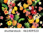 hawaiian seamless pattern with... | Shutterstock .eps vector #461409523