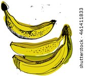 sweet yellow bananas  sketched... | Shutterstock .eps vector #461411833