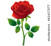 red rose cartoon style  vector... | Shutterstock .eps vector #461417377