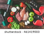products for sports nutrition ... | Shutterstock . vector #461419003