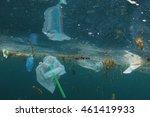 plastic ocean pollution | Shutterstock . vector #461419933