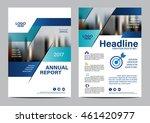 blue brochure layout design... | Shutterstock .eps vector #461420977