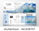 set of tri fold brochures ... | Shutterstock .eps vector #461428747
