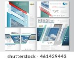 social media posts set.... | Shutterstock .eps vector #461429443