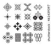 arabic pixel ornament  vector... | Shutterstock .eps vector #461439397