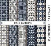 pixel pattern  textile   web...   Shutterstock .eps vector #461441257