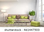 interior with sofa. 3d... | Shutterstock . vector #461447503