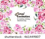 romantic invitation. wedding ... | Shutterstock . vector #461449807
