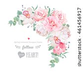delicate floral vector frame... | Shutterstock .eps vector #461456917