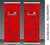 abstract red roll up banner... | Shutterstock .eps vector #461460493