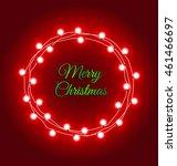 Christmas Lights Frame With...
