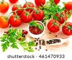 ketchup. tomato sauce salsa ... | Shutterstock . vector #461470933