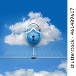 cloud data security. the image ... | Shutterstock . vector #461489617
