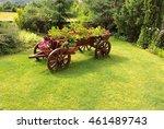 Flower Bed An Old Wooden Cart ...