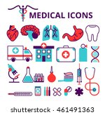 medical icons set isolated on... | Shutterstock .eps vector #461491363
