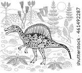spinosaurus   prehistoric... | Shutterstock .eps vector #461492287