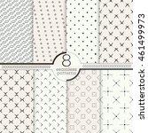 set of eight seamless patterns. ... | Shutterstock .eps vector #461499973