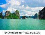 rock islands in halong bay ... | Shutterstock . vector #461505103