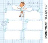 pastel template for advertising ... | Shutterstock .eps vector #461521417