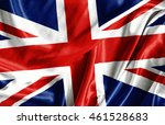 closeup of ruffled british flag ... | Shutterstock . vector #461528683