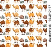 seamless background with camels ... | Shutterstock .eps vector #461540497