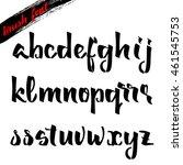 the script   handwriting brush. ... | Shutterstock .eps vector #461545753
