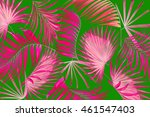 leaves of palm tree background | Shutterstock . vector #461547403