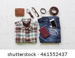 men's casual outfits with man... | Shutterstock . vector #461552437