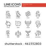 set of modern plain line design ... | Shutterstock . vector #461552803