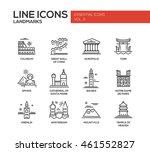 set of modern simple plain line ... | Shutterstock . vector #461552827