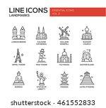 set of modern plain line design ... | Shutterstock . vector #461552833