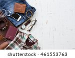 men's casual outfits with man... | Shutterstock . vector #461553763