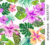 vector seamless floral pattern... | Shutterstock .eps vector #461557747