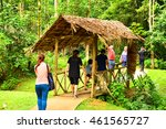 Small photo of SABAH, MY - JUNE 21: Mari Mari Cultural Village pathway on June 21, 2016 in Sabah, Malaysia. Mari Mari Village operates as a museum that preserves Borneo's knowledge, history,culture and tradition.