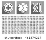 medical vector icon set with... | Shutterstock .eps vector #461574217