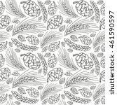 malt and cone hop seamless... | Shutterstock .eps vector #461590597
